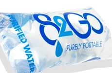 Bagged Beverage Packaging - 82go Purely Portable Water is Eco-Friendly and Easy to Drink