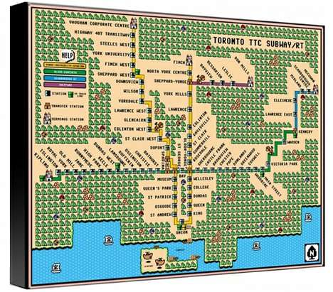 8-Bit Transit Depictions