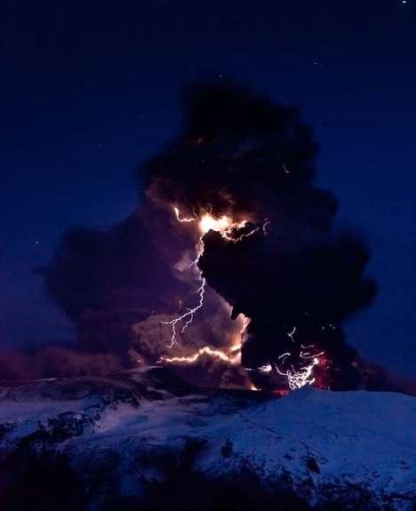 Electrifying Eruption Photography