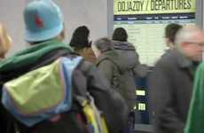 Sly Subway Station Menus - McDonald's Train Timetable Stunt is a Hit in Poland