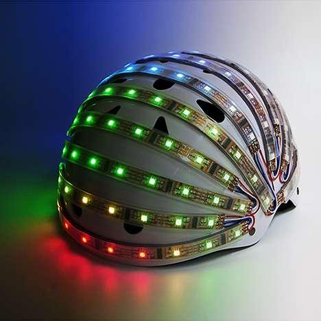 Interactive LED Helmets
