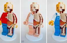 Skeletal Block Toys - The Jason Freeny LEGO Men are Cute and Morbid
