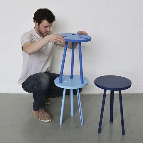 Playful Piggybacking Chairs