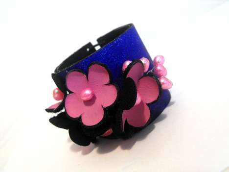 Blooming Leather Bracelets