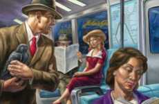 Literature Subway Illustrations - 'Literary Journeys' by Owen Smith are Paintings of Stories