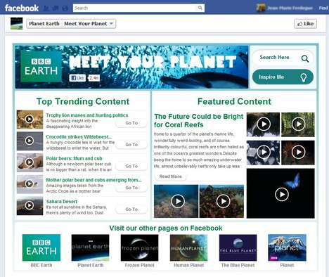 Nature-Viewing Apps - Bbc Earth Launches 'Meet Your Planet' Facebook App
