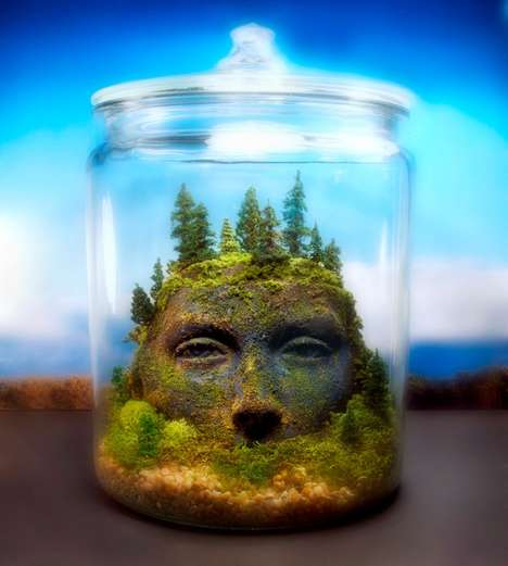 Fantastical Terrarium Artwork