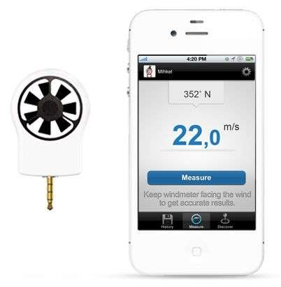 Breezy iPhone Accessories - The Shaka Wind Monitor Analyses Air Currents