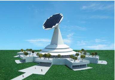 Satellite-Shaped Sun-Powered Structures