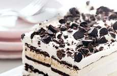 Heavenly Hybrid-Layered Treats - The Ice Cream Sandwich Cake is a Dessert Within a Dessert