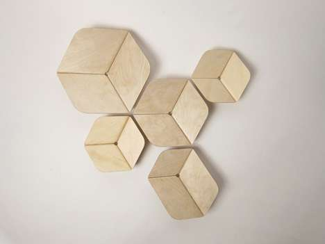 Hexagonal Wooden Dishware