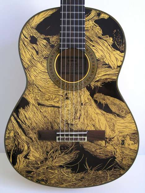 Pen-Detailed Guitars