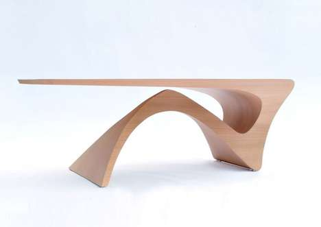 Matte Wood Tables - The Daan Mulden 'Form Follows Function' Series is a Standout Piece of Furniture