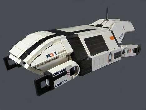 Toy Block Sci-Fi Shuttlecrafts