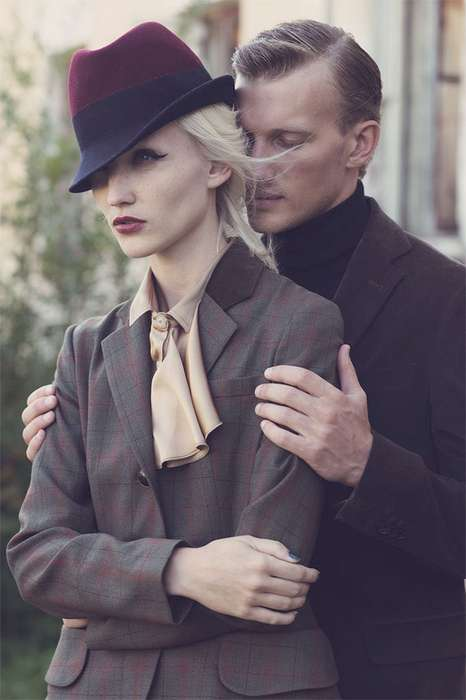 Dashing Duo Editorials - The Aydan Kerimli '2' Series is Elegant and Retro