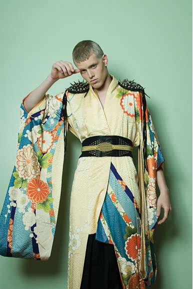 Killer Kimono Couture - The Natasha Ygel 'Kabuki' Series is Edgy and Worldly