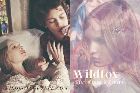 Modern Shakespearean Lookbooks - The Wildfox Fall Catalog is Inspired by 'Romeo and Juliet'
