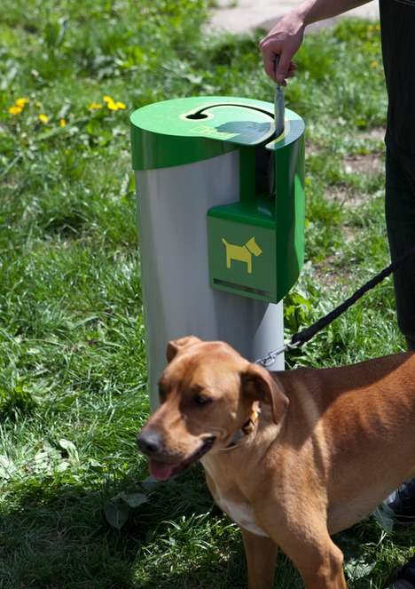 The Curve is a Sanitized Trash Can Designed Specifically for Dogs