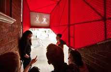 Communal Corridor Theaters - The OH.NO.SUMO Stairway Cinema Brings Communities Together