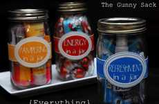 Smart Travel Containers - The 'Gunny Sack' Mason Jar Confections are On-the-Go Perfection