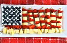 Fruit Flag Desserts - The Brit & Co. Blog Shows How to Make a Stars and Stripes Fruit Platter