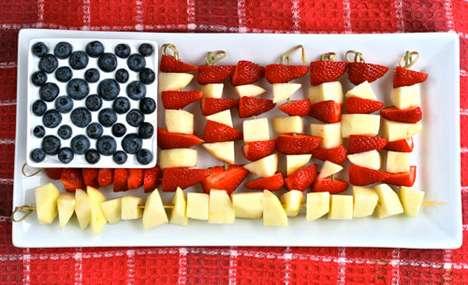 Fruit Flag Desserts