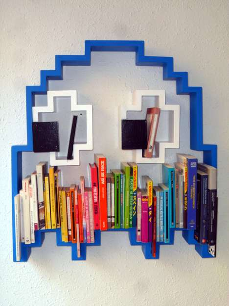 Pixelated Pac-Man Book-Holders
