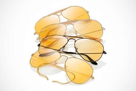 Reactive Golden Sunglasses