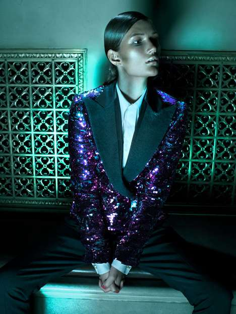 Androgynous Dinner-Wear Captures - This Cloe Legault Series is Prim and Provocative