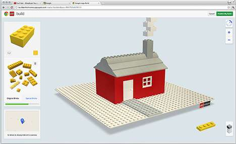 Virtual Toy Brick Games - The LEGO Build With Chrome Project Lets You Create Structures Online