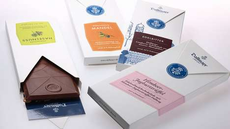 Love Letter Chocolate Branding - The Alois Dallmayr Packaging is Sealed Like a Sweet Note