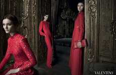 Scarlet Socialite Ads - The Valentino Fall Campaign is Darkly Mysterious