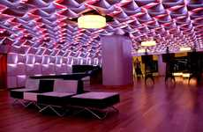 Origami-Like Ceilings - The Salon Urbain Lounge is Dynamically Geometric and Vibrant