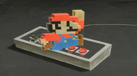 3D Super Mario Chalk Art