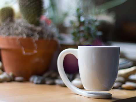 Illusory Levitating Cups - The Floating Mug Appears to Hold in Mid-Air