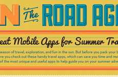 Road Trip Travel Apps - The 'On the Road Again' Infographic is a Convenient Destination