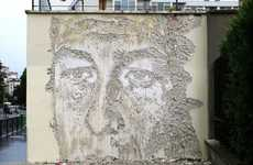 Vandalism Art Exhibits - The Vhils Entropie Solo Show Finds Beauty in Destruction