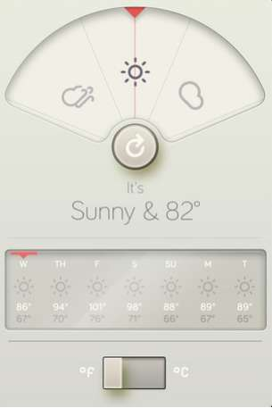 Whimsical Weather Forecasters - The WTHR iPhone App is Simplistic and Beautifully Designed