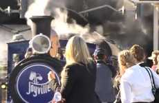 Candy-Filled Trains - Cadbury Joyville Steam Engine Surprises Sydney Commuters With Sweets