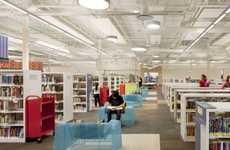 Abandoned Retailer Athenaeums - The McAllen Public Library Wins 2012 Library Interior Design Comp