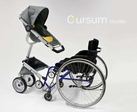 Adaptable Wheelchair Carriages - Cursum Stroller Makes It Easy for Parents to Be With Toddlers