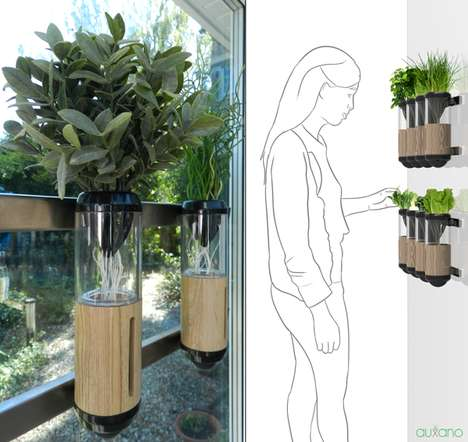 Urban Apartment Gardens - The Auxano Makes Plant Life Possible for City Dwellers Lacking Space