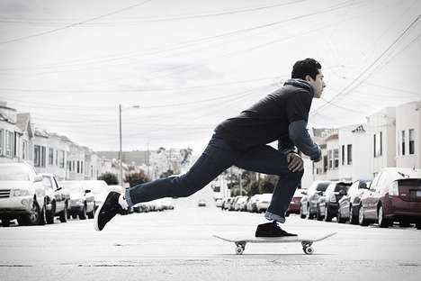 Skateboarding Denim Pants - The Levi's X Nike 511 Skateboarding Jean Allows for More Flexibility