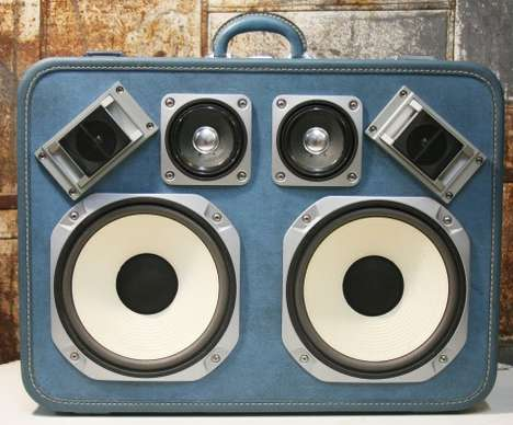 Luggage Sound Systems - Case of Bass Upcycles Vintage Suitcases
