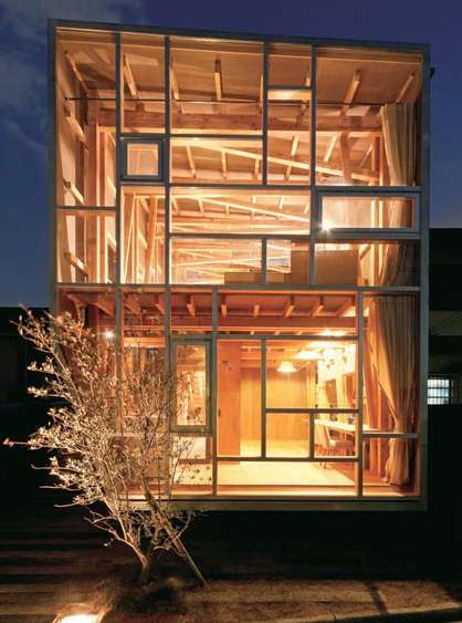 Wooden Wonder Houses - The House of Cedar is Jenga-Inspired Structure