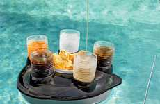Motorized Munchie Machines - The Remote Control Snack and Drink Pool Float Induces Laziness