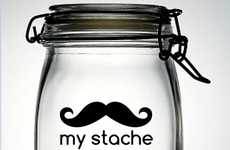 Stubbled Coin Savers - The 'My Stache' Decal Sticker is Perfect for the Piggy Bank
