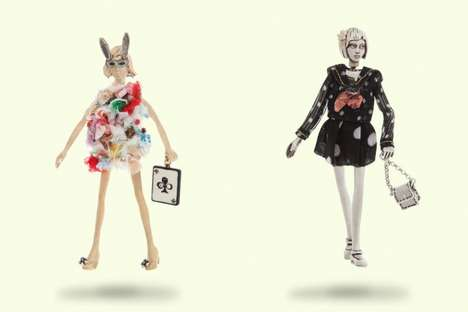Poetic Couture Figurines - Servane Gaxotte's Jewel Dolls are for Big Girls with Mature Style