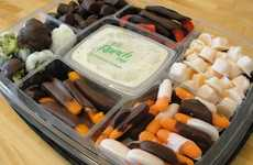 Chocolate-Covered Veggies - This Vegetable Tray Fuses Appetizers with Desserts in a Sinful Way