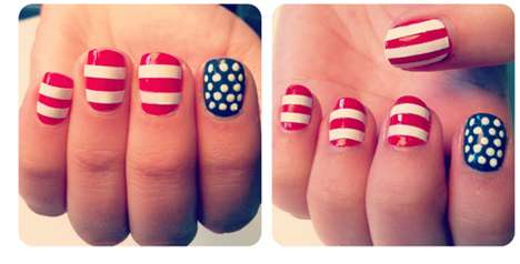 Proud Americana Nail Makeovers - The Beauty Department 'Festive Fourth' Manicure is Patriotic